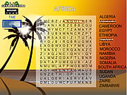Click to Play Word Search Gameplay 5 - Africa