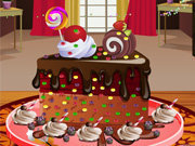 Click to Play Chocolate Cake Decoration