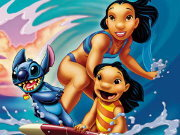 Click to Play Puzzle Lilo & Stitch Surf Jigsaw