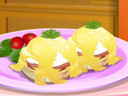 Click to Play Sara's Cooking Class: Eggs Benedict